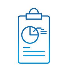 data analysis clipboard diagram report marketing vector image