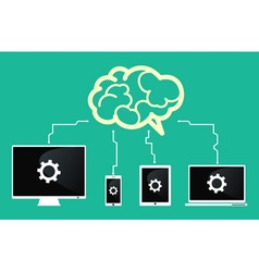 Devices connect to brain vector