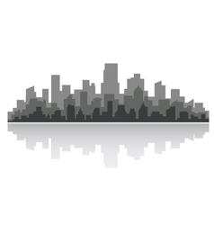Downtown cityscape vector