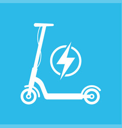 electric scooter icon vector image