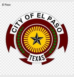 Emblem of el paso vector