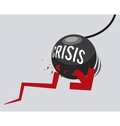 Financial crisis design vector