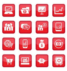 financial icons set vector image