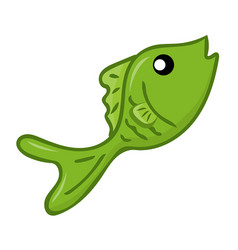 fish isolated vector image