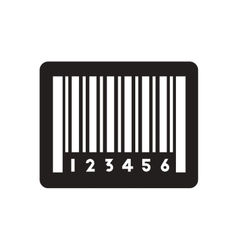 Flat icon in black and white barcode vector