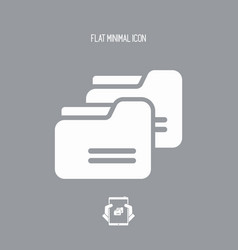 folder copy - flat minimal icon vector image