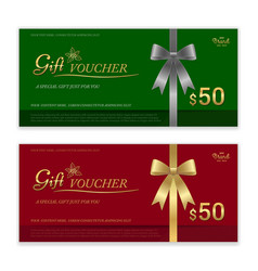 Gift certificate voucher gift card or cash vector
