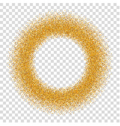 gold circle glitter frame golden confetti dots vector image