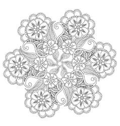 Hand drawn mehndi mandala vector