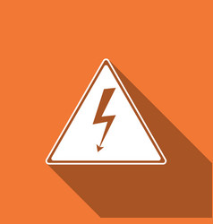High voltage sign icon danger symbol warning vector