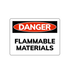 higly flammable sign caution hazard icon vector image