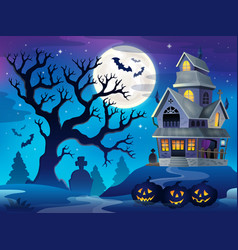 Image with haunted house thematics 6 vector
