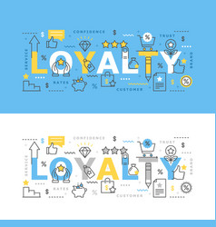 loyalty program with icons vector image