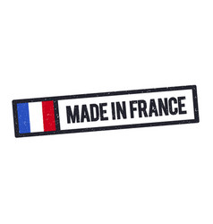made in france stamp with french flag vector image