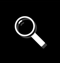magnifying glass search icon flat vector image