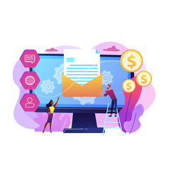 Marketing automation system concept vector