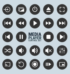 Media-player-control-set vector