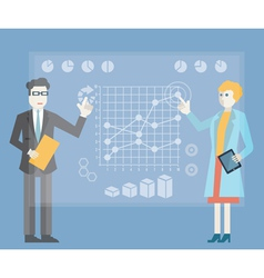 Modern management and business process vector image
