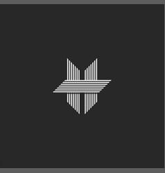modern shape letter h logo monogram parallel vector image
