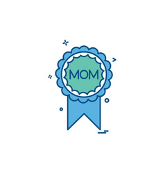 mom badge icon design vector image