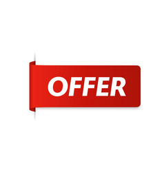 offer tag vector image
