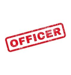 Officer Rubber Stamp vector
