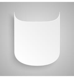 Paper banner design mockup shield vector