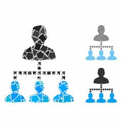 people hierarchy composition icon humpy pieces vector image