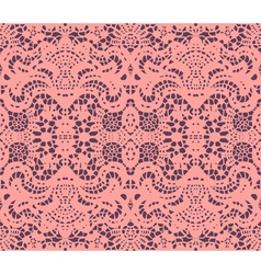 pink lace doily vector image