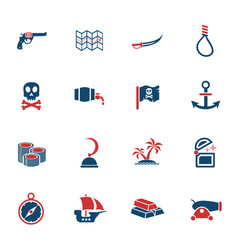 Pirates icon set vector