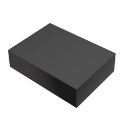 realistic black package box vector image
