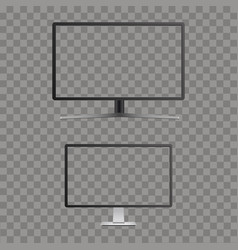 Realistic curved tv monitor mockup with vector