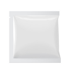 realistic white blank template packaging foil wet vector image