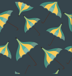 Seamless pattern with a flying vintage umbrellas vector