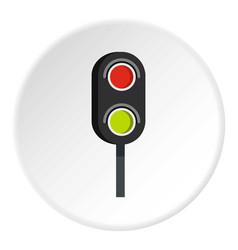 Semaphore trafficlight icon circle vector