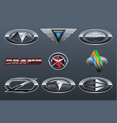 Set car logo vector