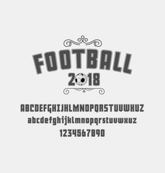 set football soccer - badge logo and font vector image