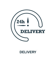 simple outline delivery icon pixel perfect linear vector image
