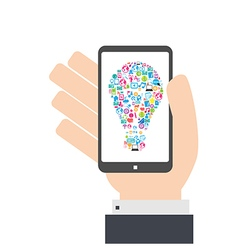 Smart phone idea social network background vector
