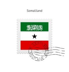 Somaliland Flag Postage Stamp vector