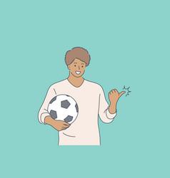 Sport advertising football game concept vector