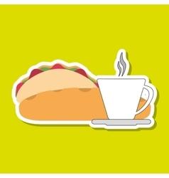 tacos icon design vector image
