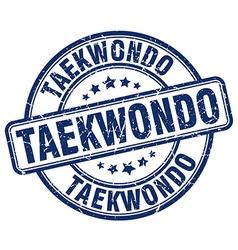 Taekwondo blue grunge round vintage rubber stamp vector