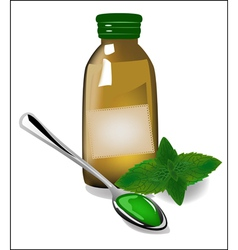 Therapy mint syrup in a bottle vector image