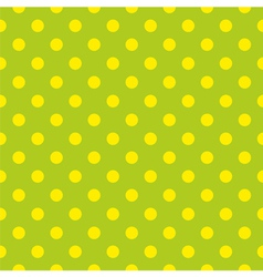 Tile pattern with yellow dots on green background vector