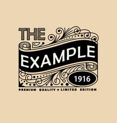 Vintage elegant line art logo emdlem and monogram vector