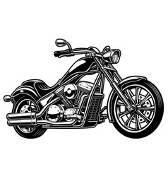 vintage monochrome motorcycle on white bakcground vector image