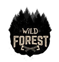 Wild forest vactor logo template vector