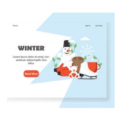 winter website landing page design template vector image
