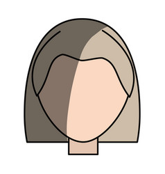 Woman faceless head vector